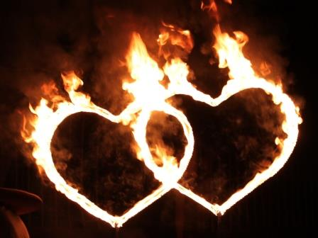 Как сделать сердце что она горела 283